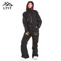 LTVT женские/мужские лыжные брюки Professional зимние сноубордические брюки 2018 Соединенные лыжные брюки комбинезон лыжные женские походные лыжные