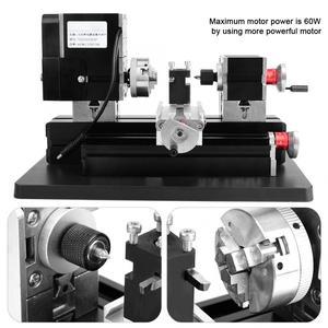 Image 4 - TZ20002MGP Dc 12V 5A 60W High Power Mini Metalen Draaibank Hoge Precisie Diy Houtbewerking Frezen Boren Draaibank Machine tool Us Plug