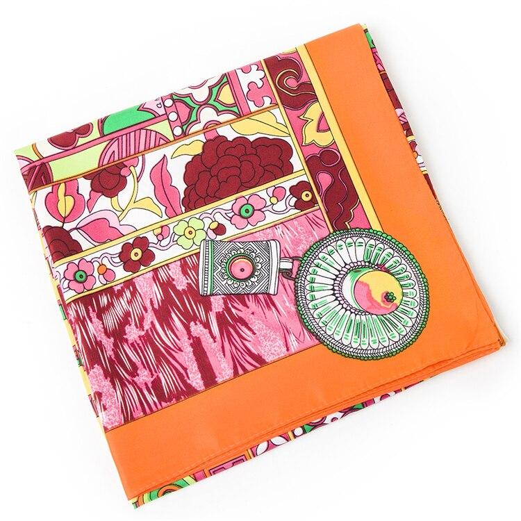 9df7648276a4 Twill De Soie Euro Marque Nationale vent Palais Du Potala Tibet Femmes 100  cm   100 cm Carré de Soie foulard grand châles