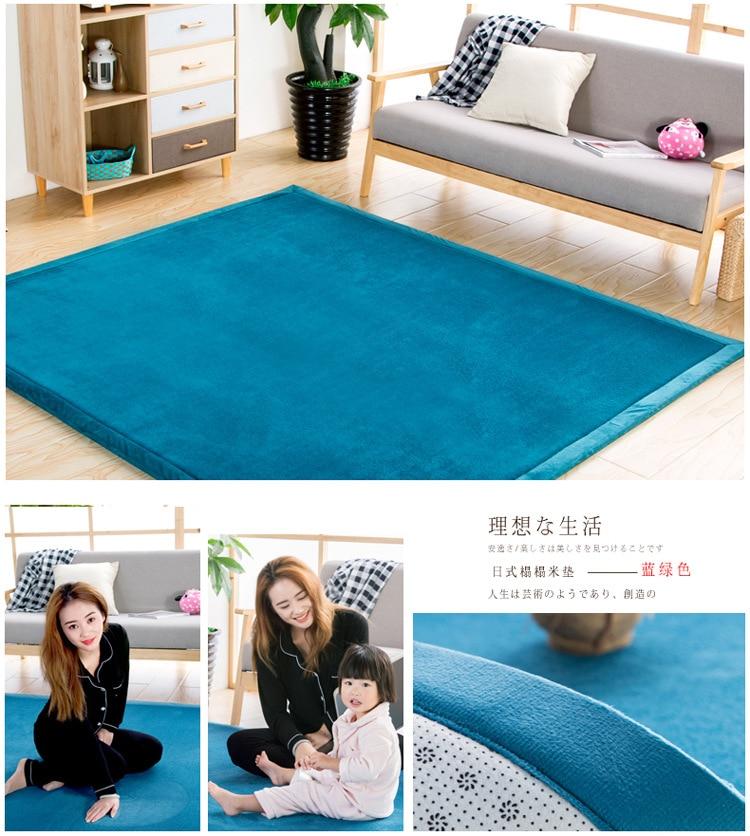 Baby Play Mat Coral Velvet Antiskid Design Crawling Mat  Baby Carpet Mat for Children Game Pad Super Soft Comfortable Playmat  (4)