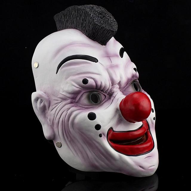 Harz Clown Maske Slipknot Joey Cosplay Maske Scary Movie Maske Erwachsene Vollen Kopf Fantasiekostüm Partei Maskerade Halloween Requisiten