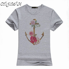 CDJLFH Europe Brand Women T Shirts Cotton Round Neck Short Sleeve Harajuku Print Loose Tshirt Summer Women Casual Tops Tees