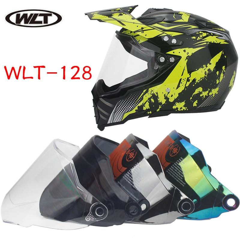 WLT 1 vienetas skydas visiškam motociklo šalmui užpakalinių akių stiklai Objektyvas