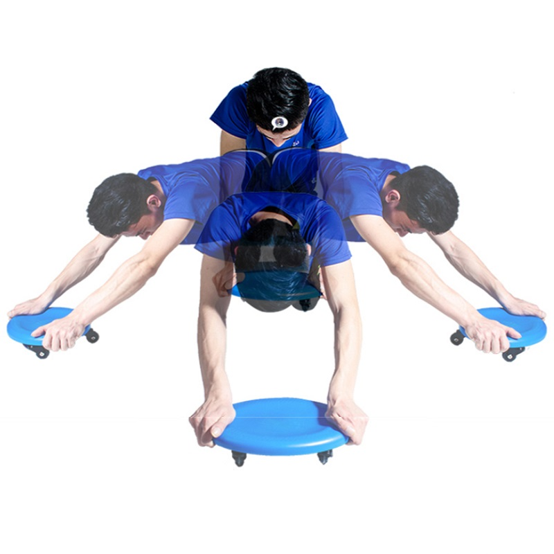 Abdominal Ab Wheel Roller With Mat Exercise Machine
