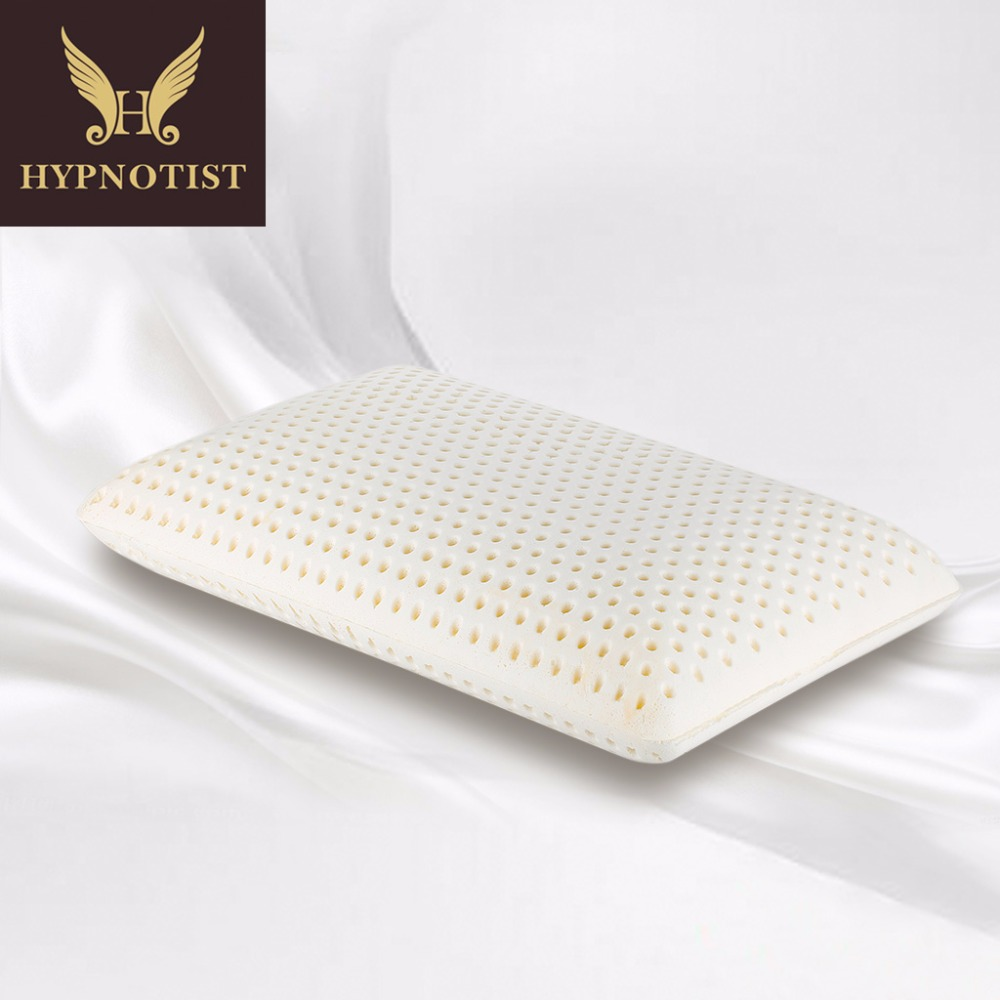 Latex Pillow Us 48 32 10 Off Hypnotist Talalay Natural Latex Pillow With 100 Ventilated Latex Foam Filler Contoured Medium Healthy Pillow Standard Size In Body