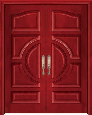Luxury Double Open Doorsolid Wood Double Door Close To Nature And