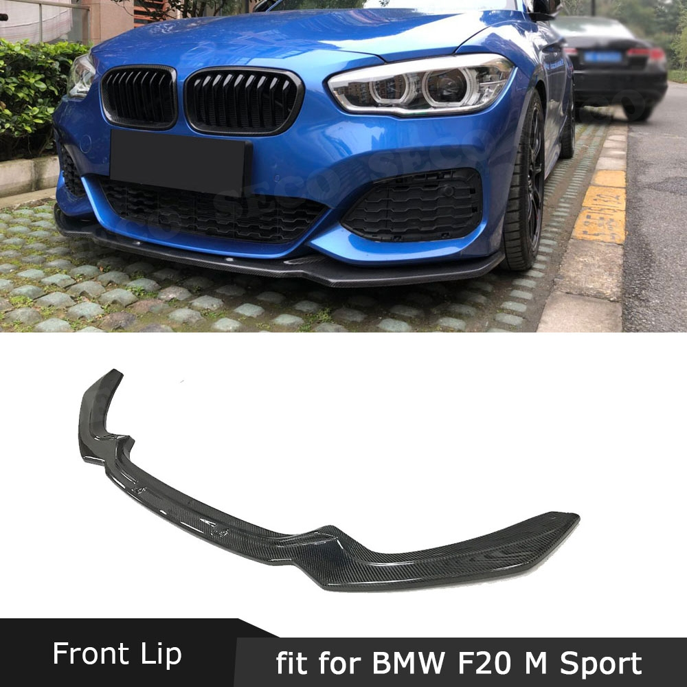 For F20 Carbon Fiber Front Bumper Lip Chin Spoiler For BMW 1 Series F20 M Sport Hatchback 2016 2017 2018 Car Styling image