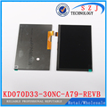 New 7'' inch LCD Display For KD070D33-30NC-A79-REVB Tablet LCD Display KD070D33 1024x600 30Pin Screen Panel Free Shipping