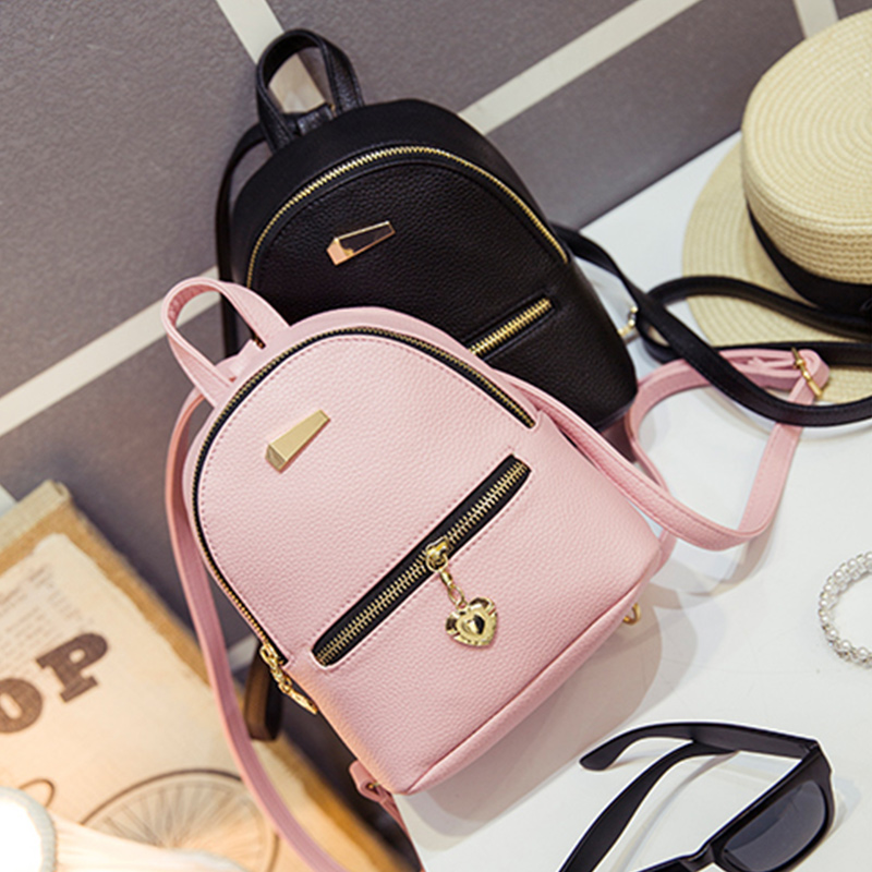 цены Backpack Faux Leather Women Daily Zipper Vintage Multifunction Shoulder Mini Casual Style Purses Bags For Teenagers