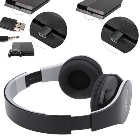 NEW Kinganda Wireless Bluetooth Headsets With Receiver USB For PS4 Game PC PRO Gaming Headphone For Running With Microphone Karachi