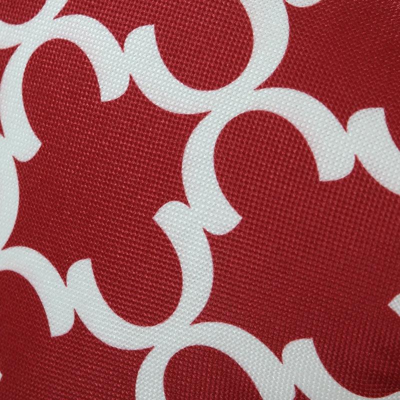 2PCS Rectangle CaliTime Cushion Cover Pillows Shell Quatrefoil Accent Geometric Home Sofa Decor 12 X 20(30cm X 50cm) Burgundy