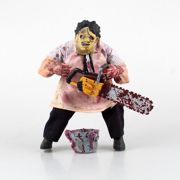 Genuine Mezco Texas Chainsaw Massacre Saw MASSACRE PVC Action Figure Collectible Model Toy Christmas Gifts Free shipping shfiguarts batman injustice ver pvc action figure collectible model toy 16cm kt1840