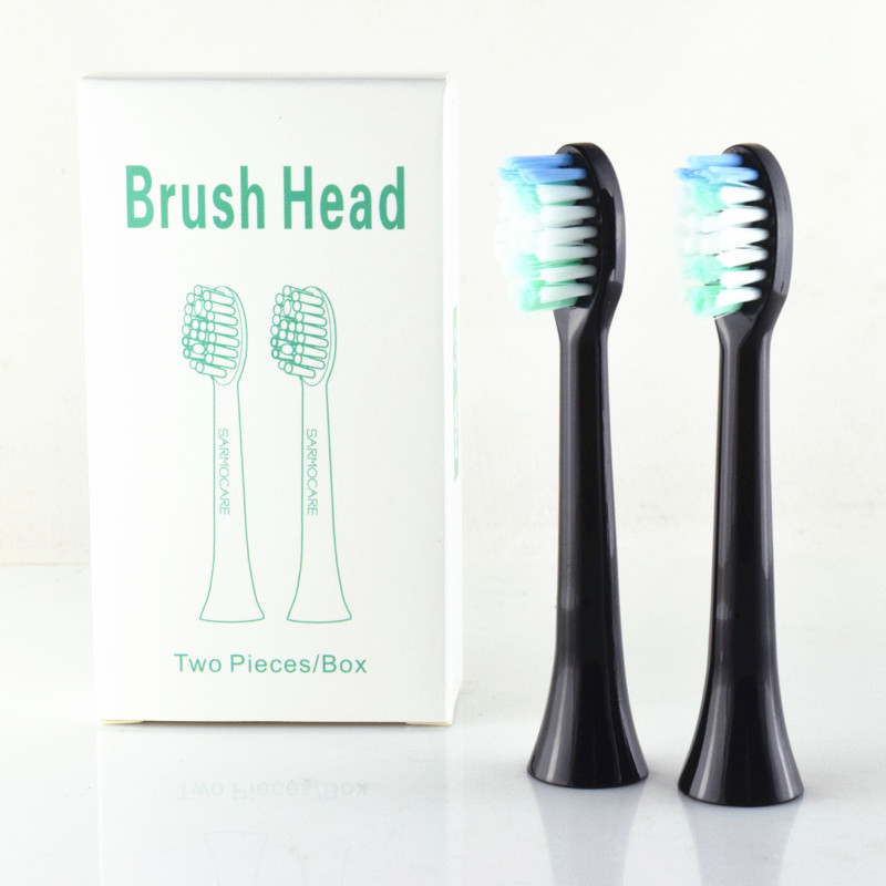 2 pcs Toothbrushes Head for Sarmocare S100 Ultrasonic Sonic Electric Toothbrush fit Digoo DG-YS11 Electric Toothbrushes Head fender super sonic 22 head blonde page 2
