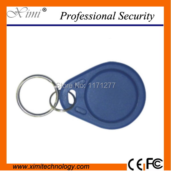 13.56MHZ Keychain MF mi-fare card for access control & time attendance system key fob F1108 chip proximity key biometric face and fingerprint access controller tcp ip zk multibio700 facial time attendance and door security control system