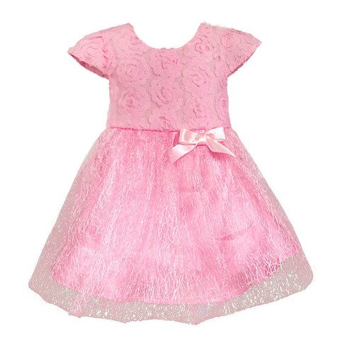 Retail - 2017 Summer bow birthday party Baby clothes, ball gown children kids tutu girls dress baby dress baby girl clothes pink Pakistan