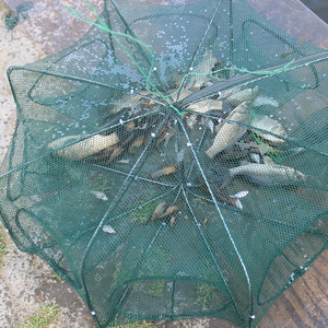 Folded Hexagon Octagon 6/8/12 Holes Fishing Shrimp Automatic Trap Fishing Net Fish Shrimp Minnow Crab Baits Cast Mesh Trap 2018(China)