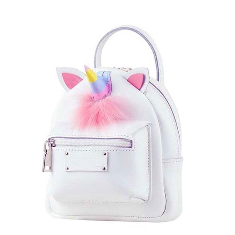 2018 Fashion Small colorful Backpack Little Unicorn Bagpacks Tiny Cartoon Plush Casual Korean Mini Rusksack Girl Shoulder Bag