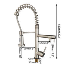 Привет доставка-современная никель матовый кухни судов раковина смеситель Torneira поворотный носик для умывальника и снести спрей