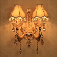 Home led mirror lights wall lamp crystal wall decoration interior wall lights decorative wall sconce bronze sconces for bedroom