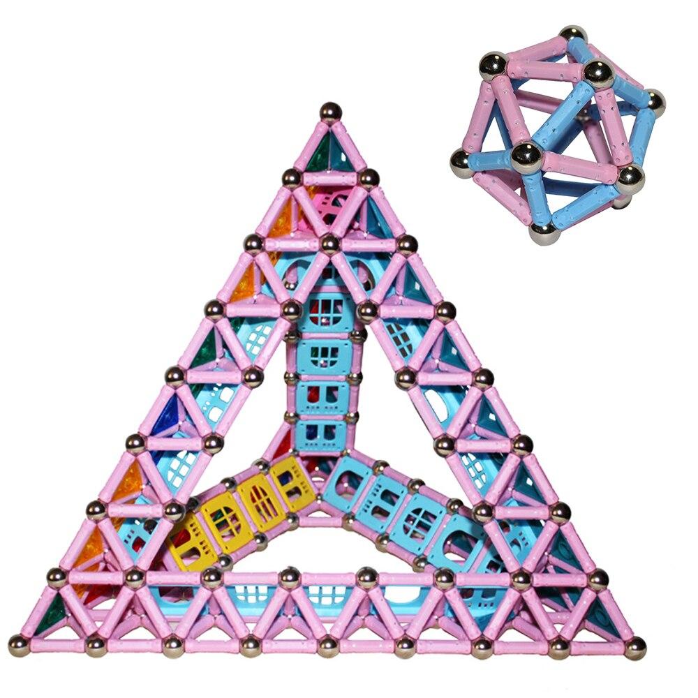 358pcs Magnetic Sticks Magnet Assemblage Building Blocks Educational ...