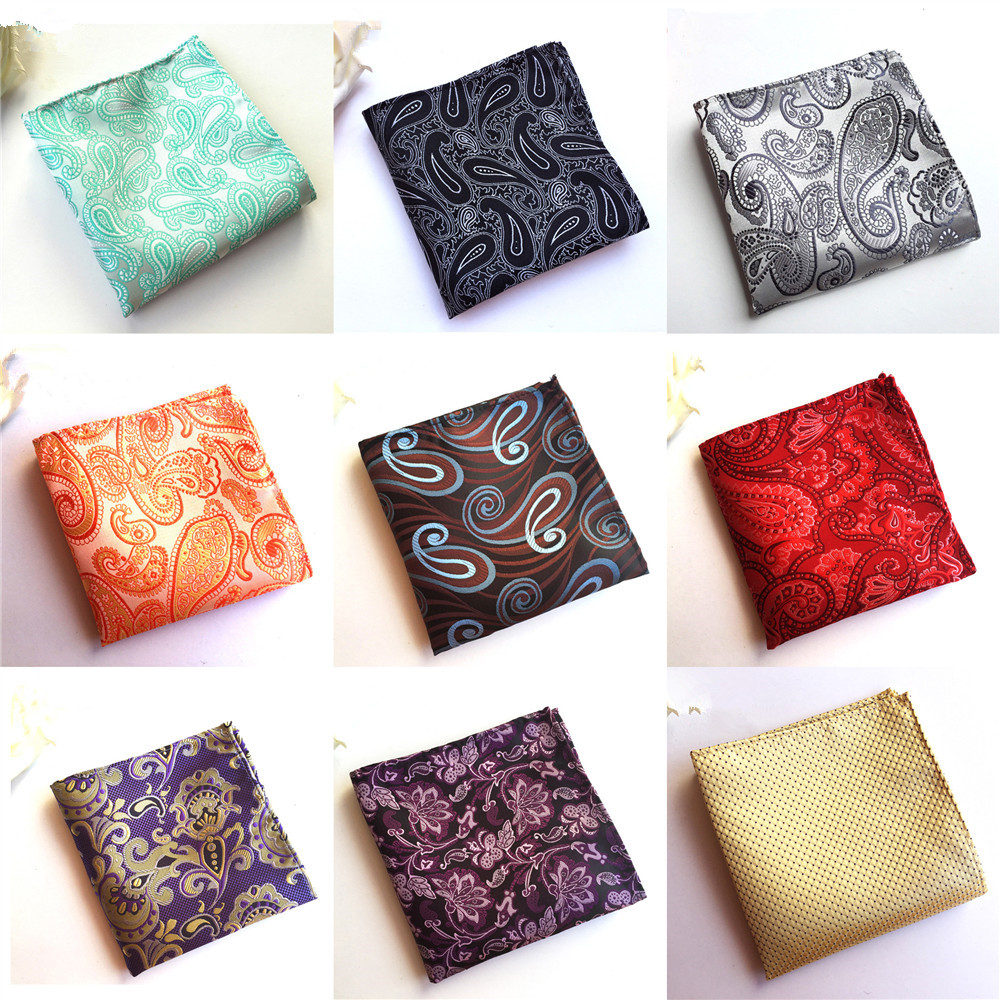 Unique Design Men's Pocket Towel 2019 Fashion Explosion Elegant Polyester Flower Business Suit Accessories Handkerchief