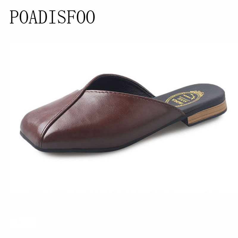 POADISFOO Shoes Women Sweet Matte Leather shoes, Flat Casual Shoes Sweet girl Pu Shoes For Female Plus Size .DFGD-1618 кеды sweet shoes