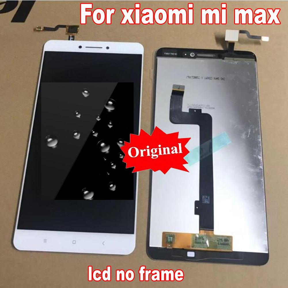 Original Best For Xiaomi Mi Max 1 max LCD Display + Touch Screen Digitizer Assembly with frame Mobile Replacement parts