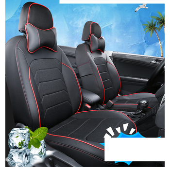 Lsrtw2017 Luxury Fiber Leather Car Seat Cushion Mat for Volkswagen Tiguan 2019 2020