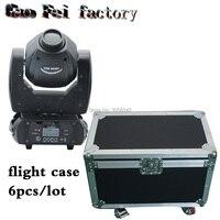 flight case 6pcs/lot 60W Moving Head Light 3 Face Prism DMX Controller LED Spot Light for Stage moving head
