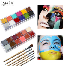 IMAGIC 12 Flash Colors case Tattoo Face Body Paint Halloween Party Fancy Dress Oil Painting Art Beauty Makeup Tools world 2018 E все цены