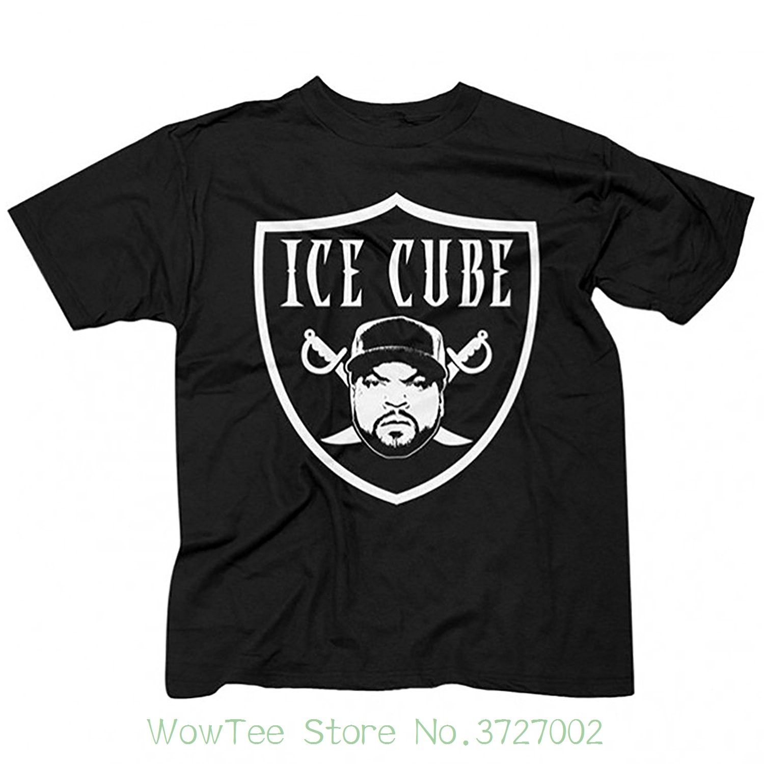 Nwa ( N.w.a. ) Ice Cube Raiders Logo Lench Mob Compton T-shirt ( S - 3xl ) Short Sleeve T-shirt Funny Print