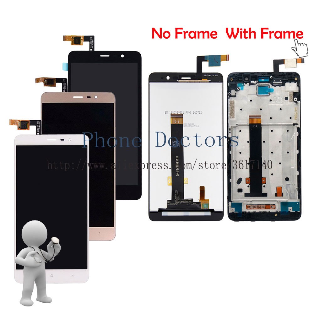150mm Touch Screen Digitizer Glass+LCD Display Assembly+Frame For Xiaomi Red Rice Hongmi Redmi Note 3 Pro / Redmi Note 3 / Prime