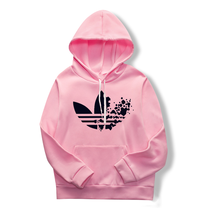 Pink Sweatshirt, Hoodie, Printed Casual Pullover And Long-sleeved Maiden Hoodie For Spring 2019 Women's Wear