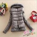 Patchwork Mulheres Inverno E Outono Casacos Engrosse Emendado Wt91355 Artificial Gola De Pele de Inverno Feminino Para Baixo Casacos E Jaquetas