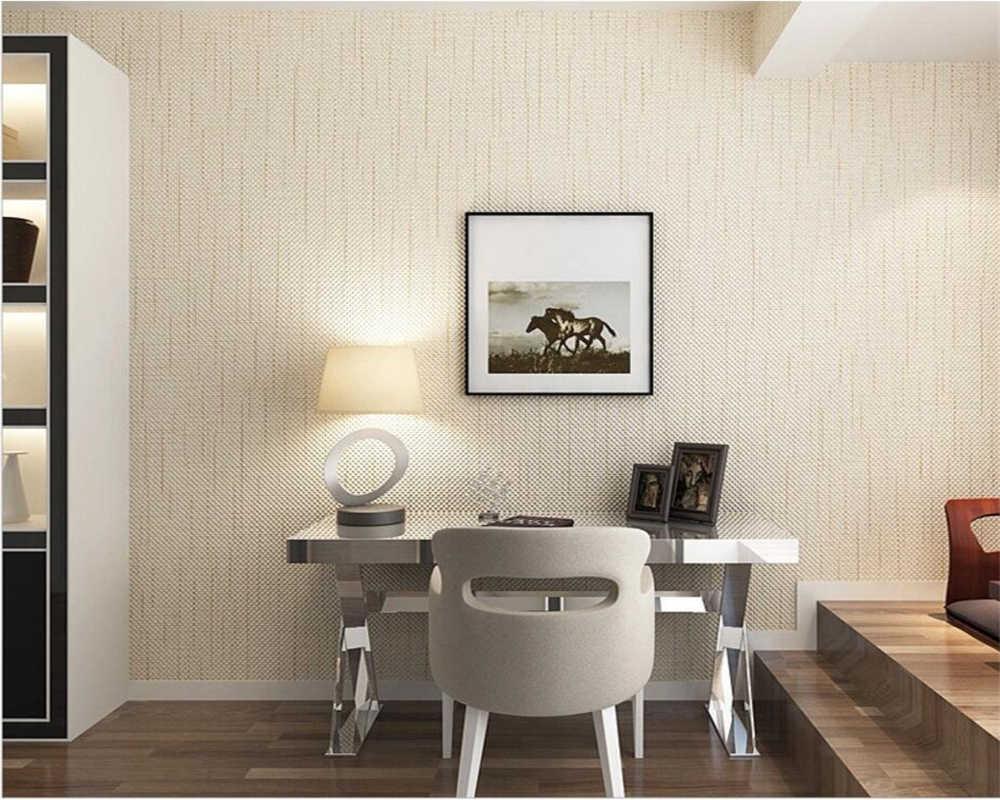 Papier Peint Pour Bureau beibehang 3d papier peint couleur pure plaine moderne linge tissu chambre  papier peint salon bureau design papier peint pour murs 3 d