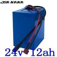 24 V 12AH 24 bateria de iões de lítio 250 V 350 W bateria 24 V 12AH bateria bicicleta elétrica 24 V bateria scooter elétrico com 2A char|Bateria de bicicleta elétrica| |  -