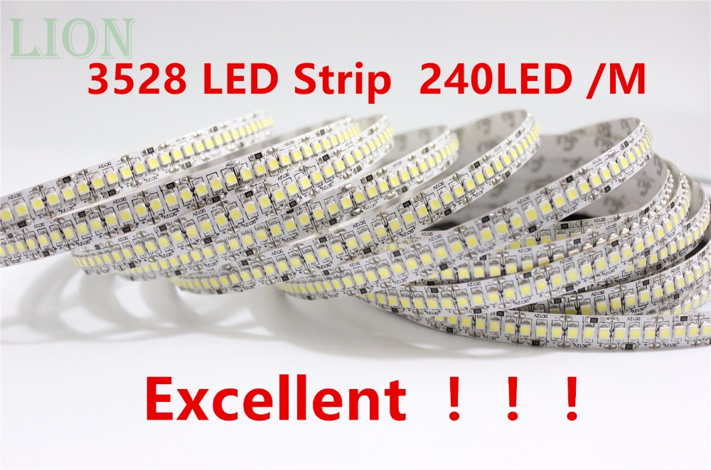 1 2 3 4 5M 12V IP20 Non waterproof 3528 LED Strip 240 led Flexible light