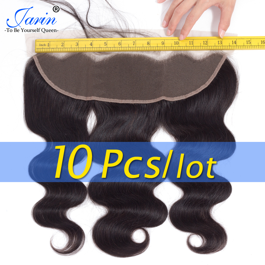 10 Pieces lot Jarin Lace Frontal Closure Malaysian Body Wave 13x4 Ear To Ear 100 Human