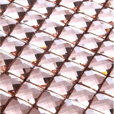 Glossy Multi Color 13 Faced Diamond Mirror Glass Mosaic