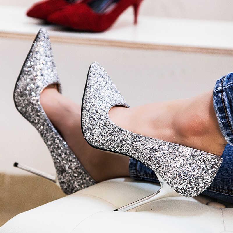 42f2518b6e6 Teahoo Luxury Brand Women Pumps Pointed Toe Flower Heel Wedding ...