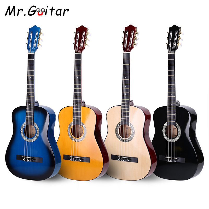Mr Guitar 38 Classical Guitar 6 Strings 4 Colors Guitar Accessories with Strings Bag Picks Tuner Metronome Guitarra Sets AGT64 in Guitar from Sports Entertainment