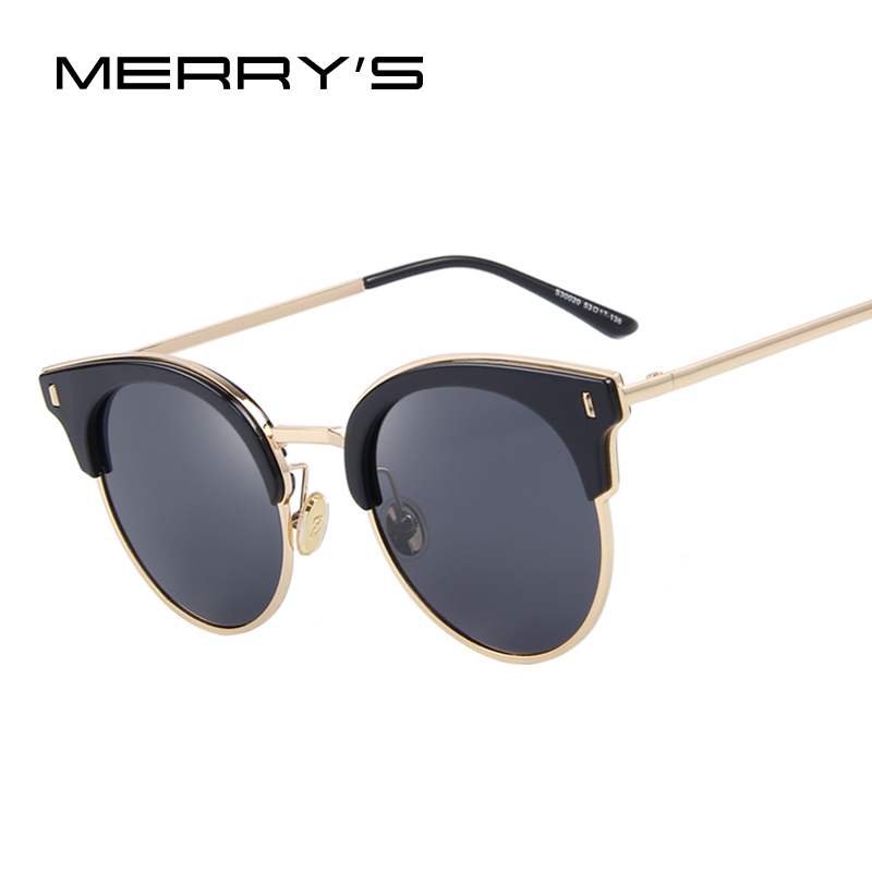 MERRY S Women Classic Sunglasses Vintage Brand Designer Sunglasses Luxury Polarized Sun Glasses S 8038