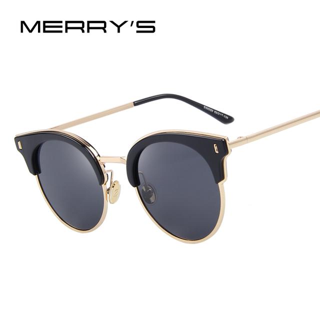 MERRY'S Mulheres Clássicos Óculos de Sol Do Vintage Designer de Marca Óculos De Sol De Luxo Polarizada óculos de Sol S'8038