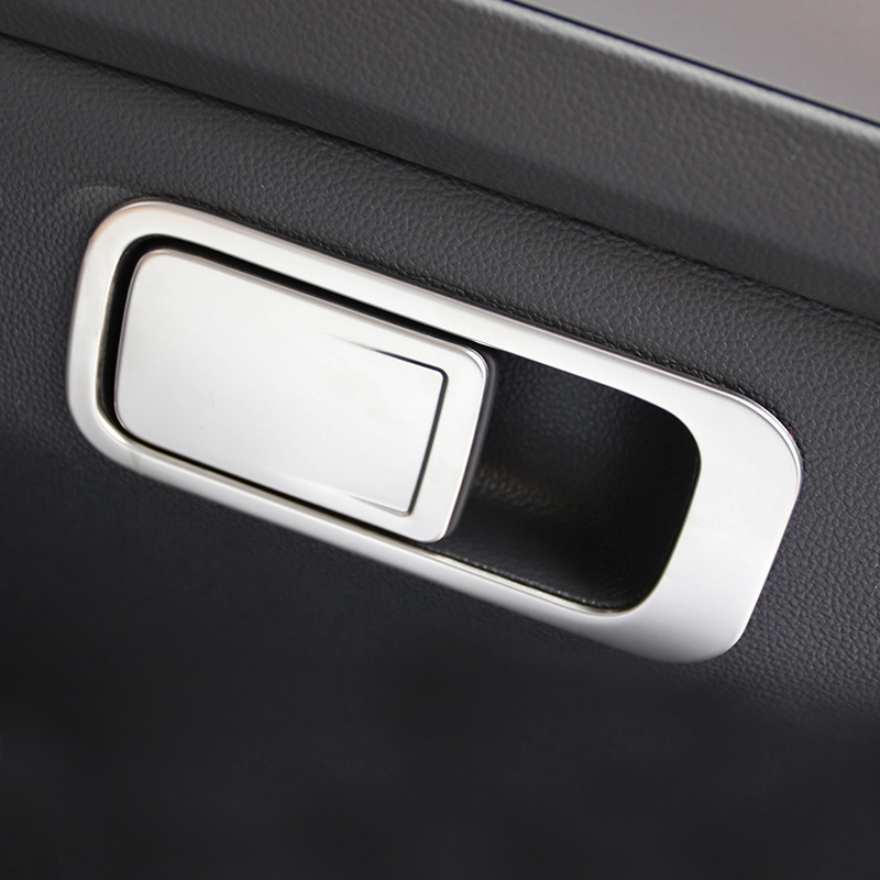 Lsrtw2017 Stainless Steel Car Co-pilot Storage Box Switch Handle Trims for Volkswagen Tiguan 2017 2018 2019 2020 image