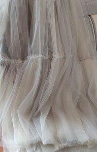Image 5 - Runway Luxury Women Black Skirt 2019 Fashion Elastic Waist Ball Gown Mesh Skirts Female Long Voile Maxi Skirts jupe longue