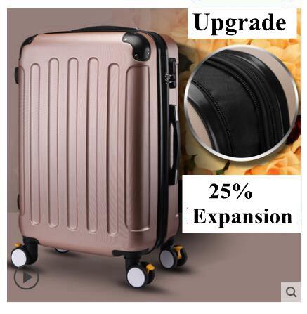 Marque 20 pouces 22 24 pouces valise roulante valise d'embarquement voyage fixation rétractable et mécanisme d'attache de sécurité Spinner cas valise valise valise à roulettes