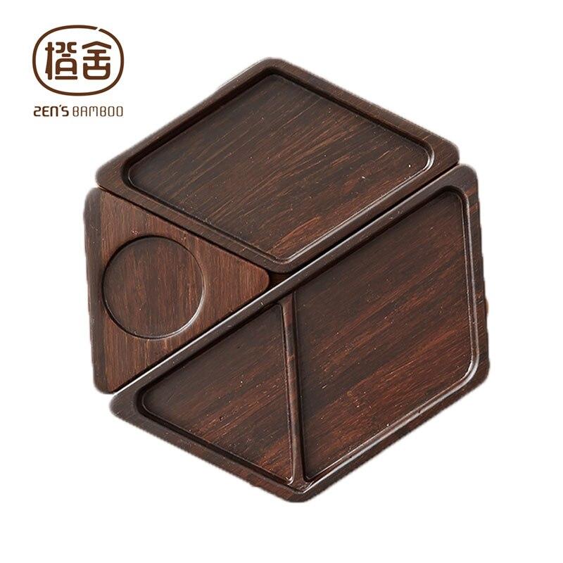 Desk Organizer Plate Office Storage Box Creative DIY Wooden Table Storage Box