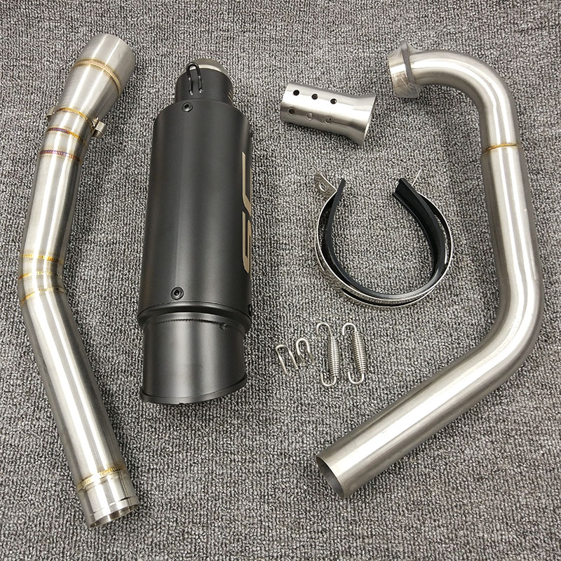 YZF R15 MT15 Full Set Modify Exhaust Muffler Middle Link Pipe Stainless Steel For YZF R15 MT-15 2008-2017 MT 125 (20)