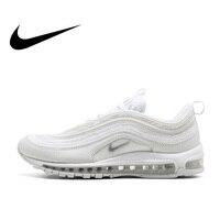 Оригинальный Официальный Nike Air Max 97 Мужской дышащий беговой обувь спортивная, кроссовки мужской классический дышащий Открытый 921826 101