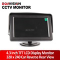 4.3 Inch Display TFT Color LCD Monitor CCTV Camera Monitor 2 AV Input, 1 Way For Rear View